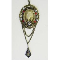 Závěs šperk červená/zlatá