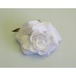Růže klips bílá box4/ks
