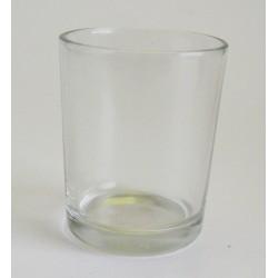 Svícen čaj. sklo 5x6,5 cm