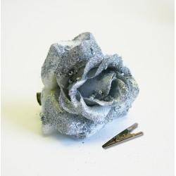 Um. Růže klips 7,5 cm stříbrná ks
