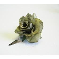 Klips růže zlatá