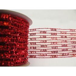 Stuha síťka červená 6,3 cm x 2,7 m