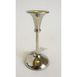 Hliníkový svícen stříbrný 7x15 cm