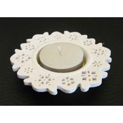 Svícen porcelán 10x2 cm (čaj.svíce)