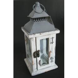 Dřevěná lampa s plech.střechou 13x13x28