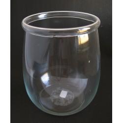 Váza sklo zahnutý okraj 14x21 cm