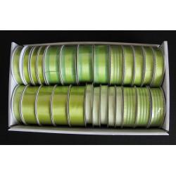 Stuha zelená 6 druhů 2 m