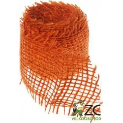 Jutová stuha 4 cm x 3 m - oranžová