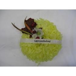 Věnez vosková chrizantéma 25x10 cm