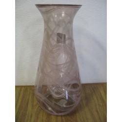 Váza sklo 20x42cm růžová