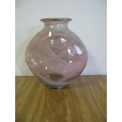 Váza sklo 24x26cm růžová