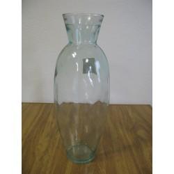 Váza sklo 40x15cm čirá