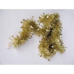 Girlanda lamela hvězda zlatá 2,7m
