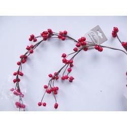 Girlanda plody červené 180 cm
