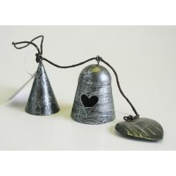 Kovový zvonek střapec