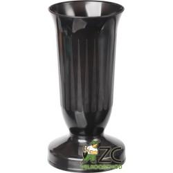 Váza hřbitovní Kalich Černá - těžké dno